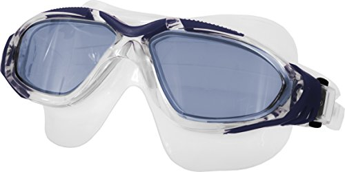 Aqua Speed® Bora Schwimmbrille Goggle Sicherheitsglas AntiFog UV, Farbe:Blau - blau getönte Gläser
