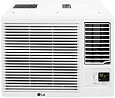 LG LW8016HR 7,500 115V Window-Mounted Air Conditioner with 3,850 BTU Supplemental Heat Function, 8000, White