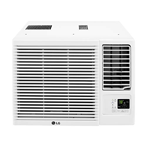 LG 7,500 115V Window-Mounted Air Conditioner with 3,850 BTU Supplemental Heat Function, 2.1 pints/h, White