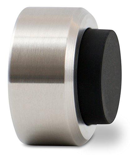 Stoppwerk Topes para puertas de acero inoxidable con goma TS010 - Material de instalación para pared incluido - Tope puerta