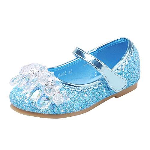 ON Prinzessin Schuhe Mädchen Pailletten Schuhe Kinder Klettverschluss Schuhe Formale Party Schuhe Ballerinas