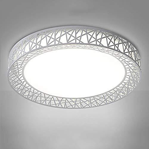 Deuba Dekbed, 15,6 inch, ledlamp, vogel, licht, nidovorm, rond, dek, kamerdeken, moderne verlichting voor woonkamer, slaapkamer, keuken, balkon Steplessdimming36W Wit.