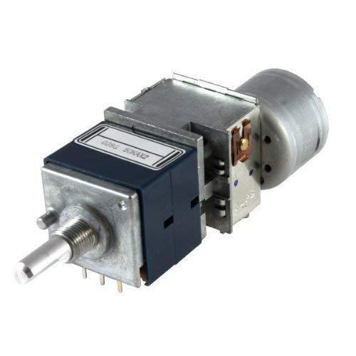 ALPS 50K log mit Motor stereo RK27112MC Dreh-Poti 50KAx2 Ohm logarithmisch 6mm