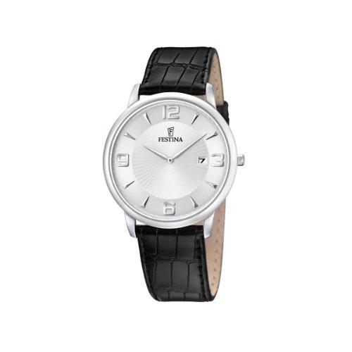 FESTINA F6806/1 - Reloj de Caballero de Cuarzo, Correa de Piel Color Negro