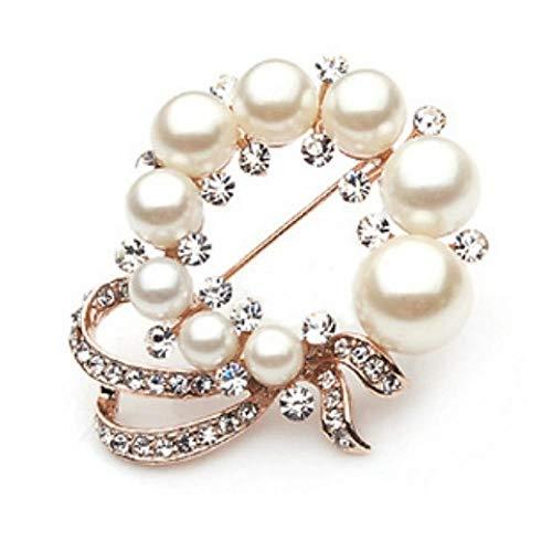 Broche koop je twee krijgt een kristal broche Koreaanse versie Het vrouwelijke pak kraag pin modesieraad verjaardagscadeau @ D