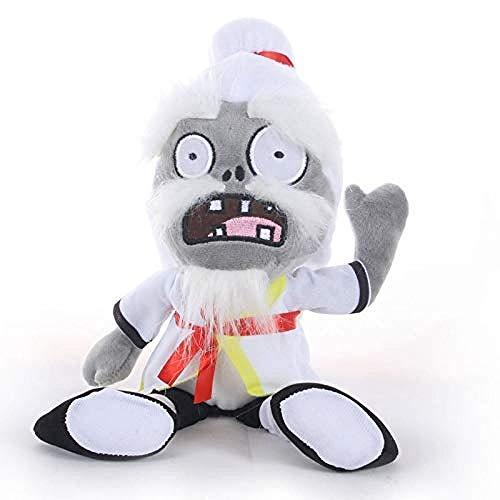 N/D Kuscheltier 30cm Pflanzen gegen Zombies Plüschtiere PVZ 2 Kung Fu Zombie Plüsch Kuscheltier Puppe Weiche Tiere Spielzeug für Kinder Kinder Geschenke