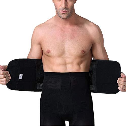 Faja Reductora Adelgazante Lumbar De Trabajo Abdominal Hombre Cinturón Quema Grasas Para Hacer Deportes Negro XL