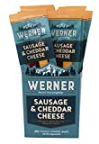 Werner Sausage & Cheddar Cheese Sticks Pack of 12 – Meat & Cheese Sticks 1.5 Ounce Individually Wrapped Meat Snacks
