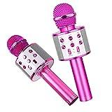 IUwnHceE Mic del Altavoz del Bluetooth Micrófono De Karaoke Juguete Inalámbrico Portátil Blue Rose Red para Niños Niñas Niños Cumpleaños Regalo Accesorios Electrónicos De Regalo