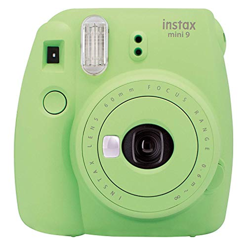 Fujifilm Instax Mini 9 Camera Smoky White, Camera, Lime Grün