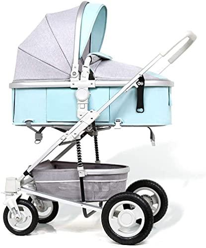 Cochecito de bebé compacto liviano de cochecito para niños pequeños, cochecito de bebé, cochecito de reclinación convertible, cochecito anti-shock de carro plegable y portátil con marco de aluminio, C
