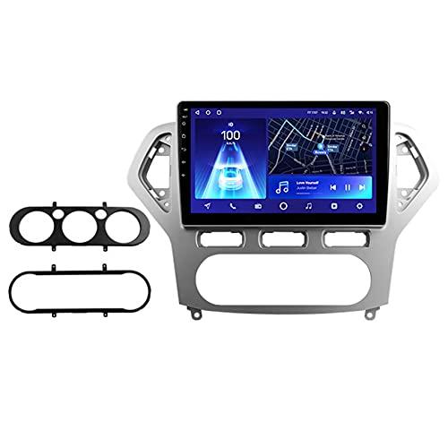 Amimilili Android 10 Coche Estéreo para Ford Mondeo 4 2006-2010 navegación GPS Autoradio con Bluetooth/GPS/FM/RDS/USB/DSP/Carplay/Mandos Volante, Mirrorlink y Cámara Trasera,8core WiFi+4g: 6+128g