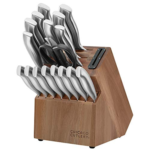 Chicago Cutlery Insignia Guided Grip 18-Piece knife set with block