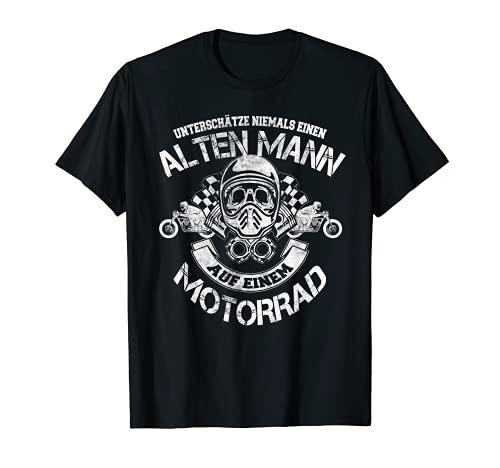 Hombre Nunca subestima a un hombre viejo en una moto. Camiseta