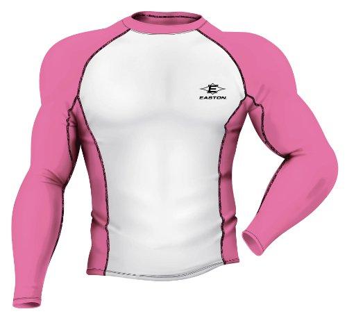 Easton Youth Power Surge Compression Shirt, Pink/White, Medium