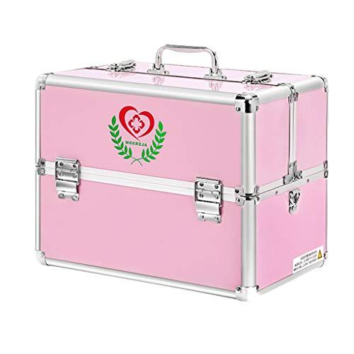LF- Boîte de médecine en Alliage d'aluminium 30 * 21.7 * 24cm / 36 * 25 * 29cm médecine Domestique médecine d'urgence ambulatoire boîte de Rangement boîte médicale enregistrer