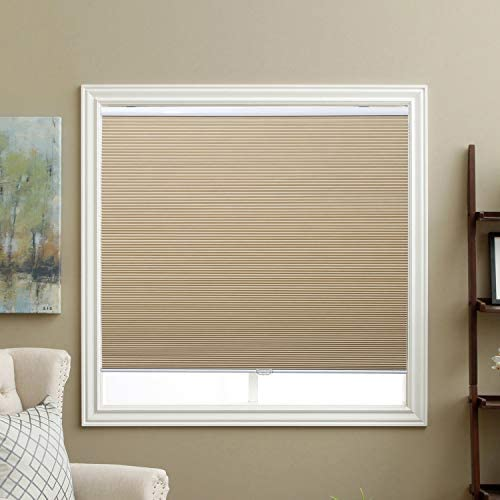 Cordless Cellular Shades Blackout Window Blinds Honeycomb Blinds Fabric 46 W x 48 H Ivory Beige product image