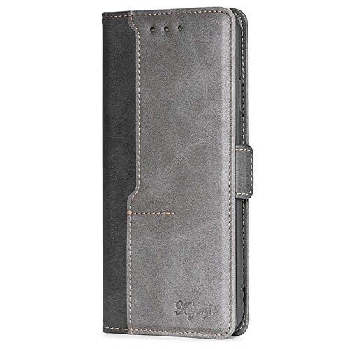 FANFO® Hülle für Oppo Reno 4 Z 5G/A92s HandyHülle, Premium PU/TPU Leder Tasche Magnetverschlüsse Schutzhülle Flip Wallet Klapphülle Hülle Cover, schwarz