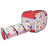 REPLOOD Tienda de juegos de dados para niños con túnel + 100 bolas Pop-up con bolsa
