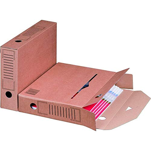 Archiv-Ablagebox braun 320 x 67 x 242 mm Karton Ablage 25 Stück