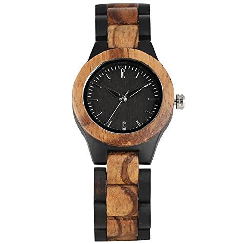 Caja de Reloj de Madera Relojes de Pulsera con Brazalete de Madera Reloj deMujeronlywatch