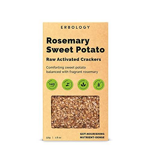 Organic Crackers 1.8 oz - Raw Activated - Vegan - Gluten-Free (Rosemary Sweet Potato, Pack of 1)