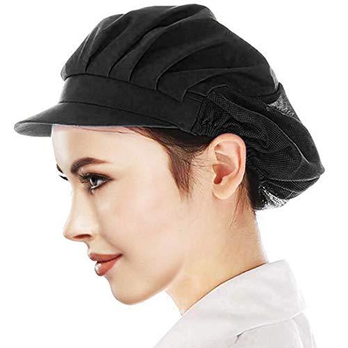 Cityelf Gorro de Cocinero Ajustable Sombrero para cocinar y restaurante Gorra para trabajo patissier cocina red de sombrero Mujer blanco