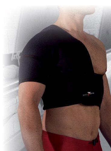 Precision Training - Supporto per mezza spalla in neoprene (destra) - nero/rosso, grande