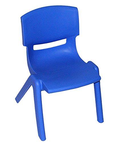 Onbekend kinderstoel - BLAUW - stapelbaar / niet-kantelbaar / tot 100 kg belastbaar - voor buiten en binnen - voor meisjes en jongens - kindermeubels - plastic / kunststof - stoel .. OHNE Name zoals aangegeven.