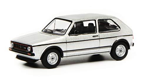 Schuco 452018000 VW Golf I GTI Silber 1:64 452018000-VW, Modellauto, Modellfahrzeug, weiß