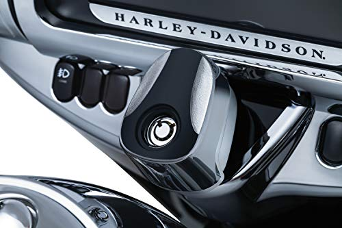 Kuryakyn 6993 Motorcycle Accent Accessory: Sculpted Ignition Switch Cover for 2014-19 Harley-Davidson Motorcycles, Chrome/Black