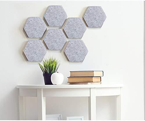 Dmqpp Voelde Zeshoek Board Tegels Set met Volledige Sticky Terug, Pin Board, Maak uw zeer eigen muur Bulletin Board overal in uw huis om een Handige plek te maken om notities foto's Doelen Foto's Tekenen