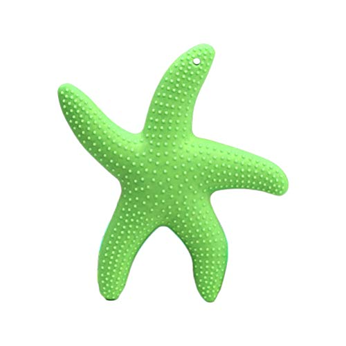 SUPVOX Baby Silicone Teething Toys Baby Pacifier Teethers Infant Molar Teeth Soother Green