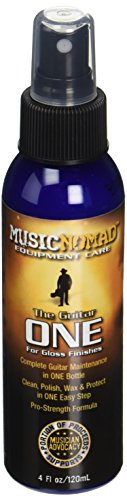 Music Nomad MN103 Guitar ONE All-in-1 Cleaner, Polish, and Wax, 4 oz.