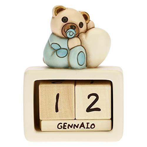 THUN Calendario perpetuo da Tavolo in Ceramica Nascita Bimbo