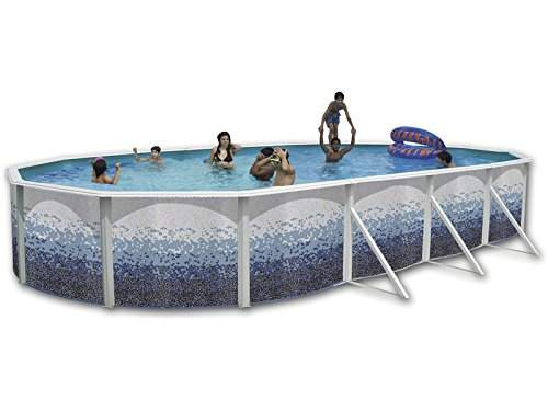 TOI - Piscina desmontable ovalada decorada modelo trencadisc ...