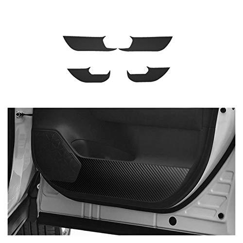 Sun Can Puerta lateral del estilizador de automóviles Pegatina de flotación de fibra de carbono anti-patada protectora antideslizante 4pcs / ajuste para Toyota RAV4 2019 2020 ( Color Name : 4pcs )