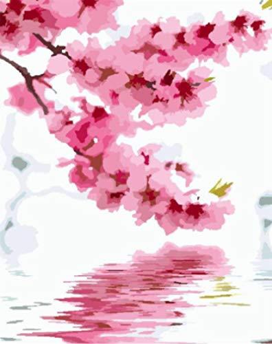 NA Puzzles 1000 Piezas de Juegos de Rompecabezas para Adultos y niños, Flores de Cerezo reflejadas en el Agua, Regalos educativos de Bricolaje Hechos a Mano