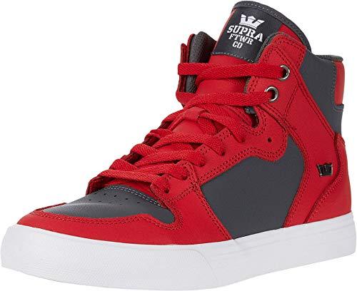 Supra Unisex-Erwachsene Vaider Hohe Sneaker, Rot (Red/Dk. Grey-White 607), 43 EU