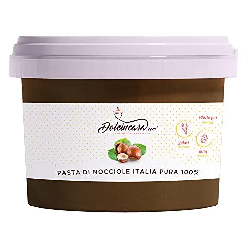 Dolcincasa-com Pasta Di Nocciole Italia Pura 100%, Per Gelati, Creme, Per Caffè E Usi Vari In Pasticceria, Nocciola, 500 Grammo