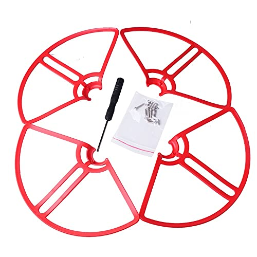 VIKEP 4 unids Red Prop Guard Fit para MI Drone Propeller Guard Cubierta Protectora Protectora de la Hoja de Parachoques Anillo de la Cubierta de la Cubierta, Ajuste para Xiaomi MI Drone 4K / 1080P