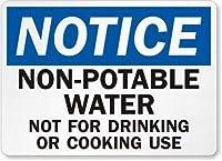 安全標識-通知:飲用に適さない水錫金属標識標識通知標識通りの道路警告標識