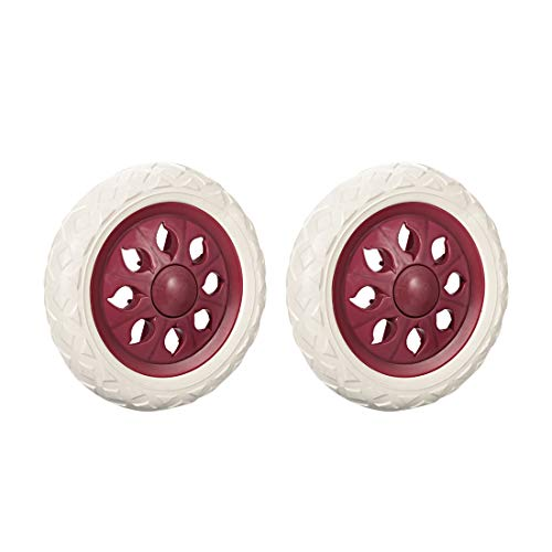 uxcell Shopping Cart Wheels Trolley Caster Replacement 6.5 Inch Dia Rubber Foaming Pink 2pcs