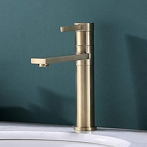 Lutriva Gold Wasserhahn Bad Armatur Einhebel Waschtischarmatur für Badezimmer Waschbecken, 360°Drehbarer Badarmatur Zeitnah Ein Loch Waschtisch Mischbatterie