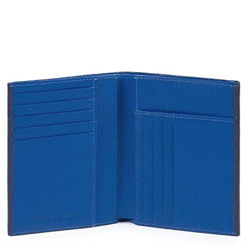 Piquadro PU1393SPLR/BLBL Splash Porta carte di credito, 12 cm, Blu/Blu
