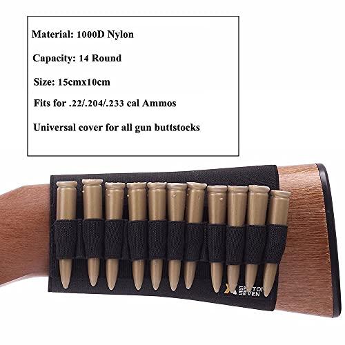 NLLeZ 1000D Nylon Bullet Bag Aire Libre Buttstock Hunting Bolsa de munición Táctica Airsoft Shell Holder Pistola Accesorios Cartuchos (Color : Type 5)