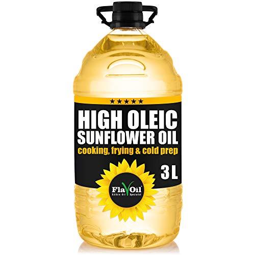 FlavOil High Oleic Speiseöl mit hohem Ölsäuregehalt, 3 Liter: Ein gesundes hochwertiges...