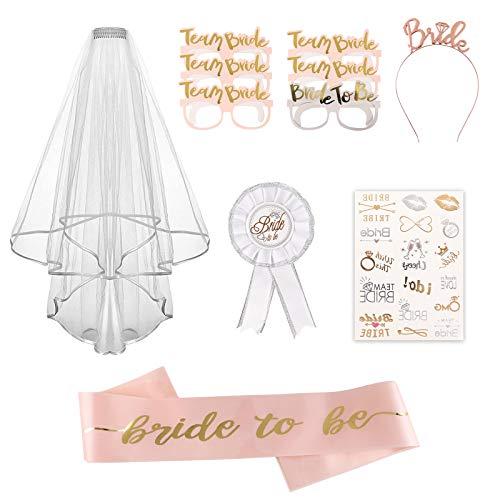 HALOVIE Arco de globos de oro rosa, 104 unidades, para cumpleaños, bodas, San Valentín, decoración de globos