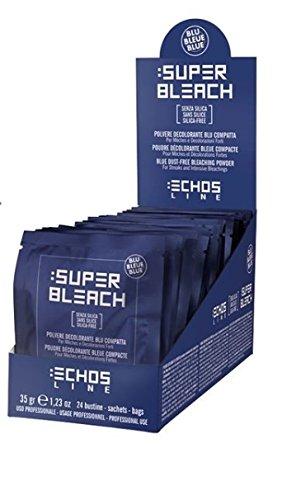 Super Bleach – Poudre décolorante bleue compacte – 24 sachets – EchosLine