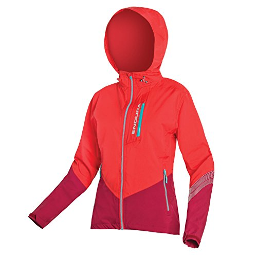 Endura Damen SingleTrack II Mountainbike-Jacke – Wasserdichte Fahrradjacke, Damen, korallenrot, Small